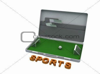 tilted soccer briefcase