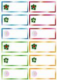 Set colors Christmas Stickers