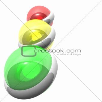 Ti-color volumetric lights