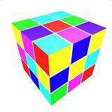 cubes with colored sides