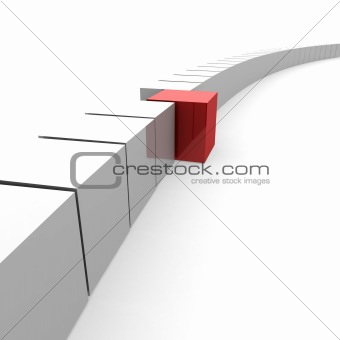 one red cube