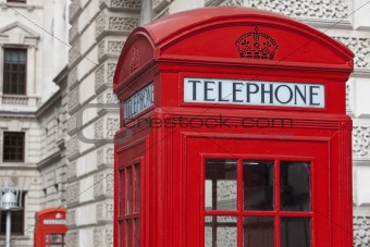 Classic London Red Telephone Box