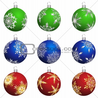 christmas balls set