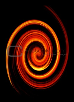 abstract twirled fire