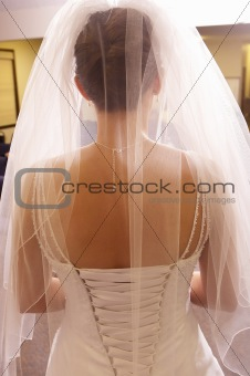 Beautiful Bride from the back to show dress details
