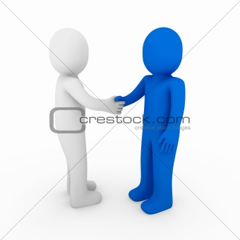 3d human business handshake