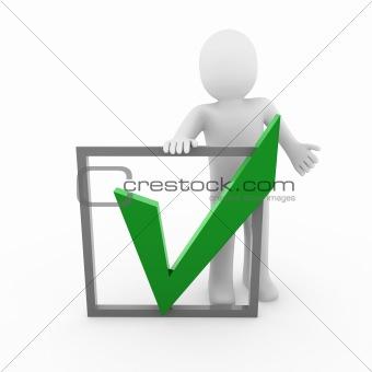 3d human check green