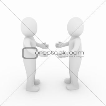 3d human welcome hello hand