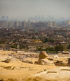 Sphinx Looks Onto Cairo City