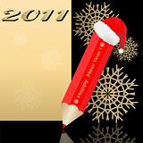 Pencil and New Year