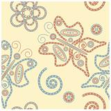vector henna seamless ornament
