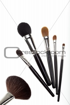 a set of 6 make-up brushes