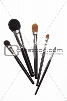 a set of 5 make-up brushes.