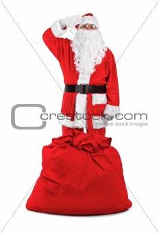 funny santa claus salutes