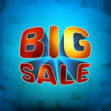 Zoom shine text Big Sale. EPS 8