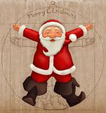 Vitruvian Santa Claus
