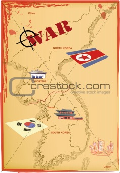 Map Korea, Vector.