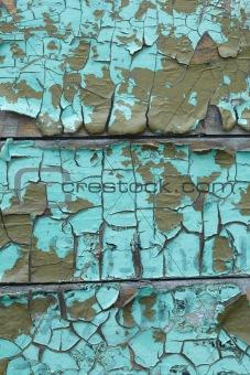 Old weathered cracked enamel