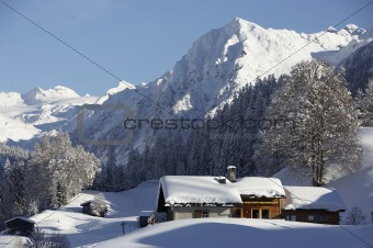 Klosters CH in winter