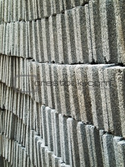 Gray concrete brick block