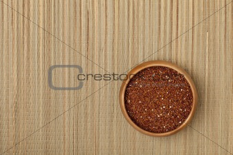 bowl of red quinoa grain