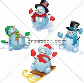 Snowmans  set