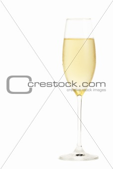 cold champagne in a champagne glass