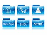 Blue christmas button for your website
