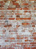Background - dilapidated red brick wall