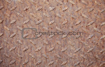 Old rusty steel deck with pattern
