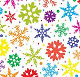 colorful snowflakes