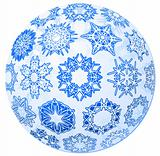 Transparent christmas-ball with snowflakes