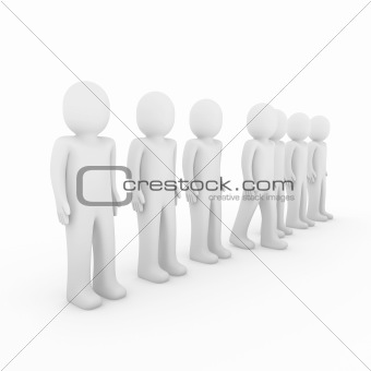 3d human stand crowd