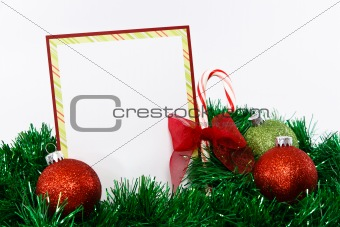 Christmas Card Invitaion in Red and Green