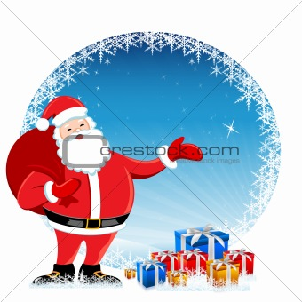 santa in christmas card