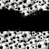 Vector background filled with balls