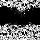 Vector background filled with skulls
