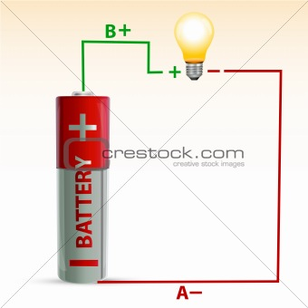 battery with bulb