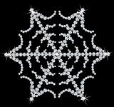 Snowflake Made From Diamonds. Vector