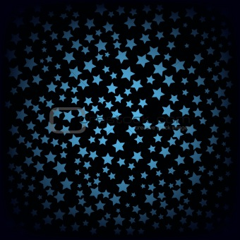 abstract background with blue stars on black