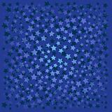 abstract background with blue stars on blue
