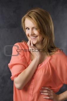 classic portrait of smiling woman