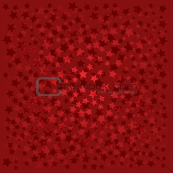 abstract background with red stars on red