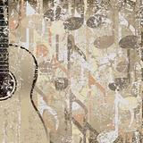 abstract cracked background accoustic guitar