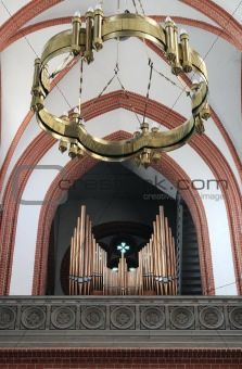 Church organ, lamp