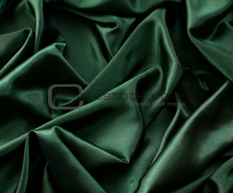 Smooth elegant dark green silk