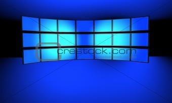 Flat screen wall