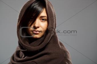 Portrait of fashionable  woman