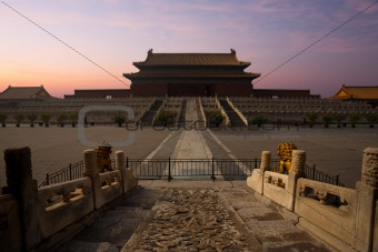 Forbidden City Palace Supreme Harmony Sunrise