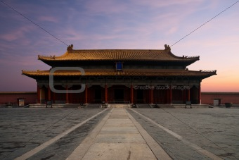 Forbidden City Hall  Supreme Harmony Sunrise Front